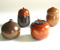 茶入 欅  京都 漆器の井助