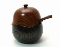 薬味入れ 欅 ひょうたん 京都 漆器の井助