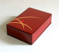 漆器名刺箱 縁起蒔絵 とんぼ てんとう虫 京都 漆器の井助