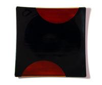 やよい皿 日月白檀 京都 漆器の井助