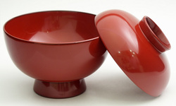 雑煮椀 木製漆塗り 京都 漆器の井助 蓋付きの木のお椀
