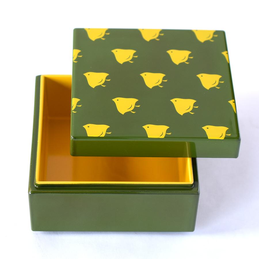うるしこはこ 漆塗りの小箱 千鳥