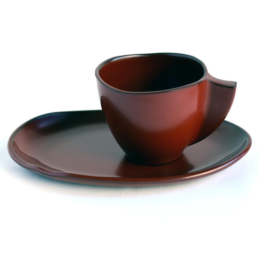 コーヒーカップ&ソーサーセット 古代朱 漆塗り 漆器の井助