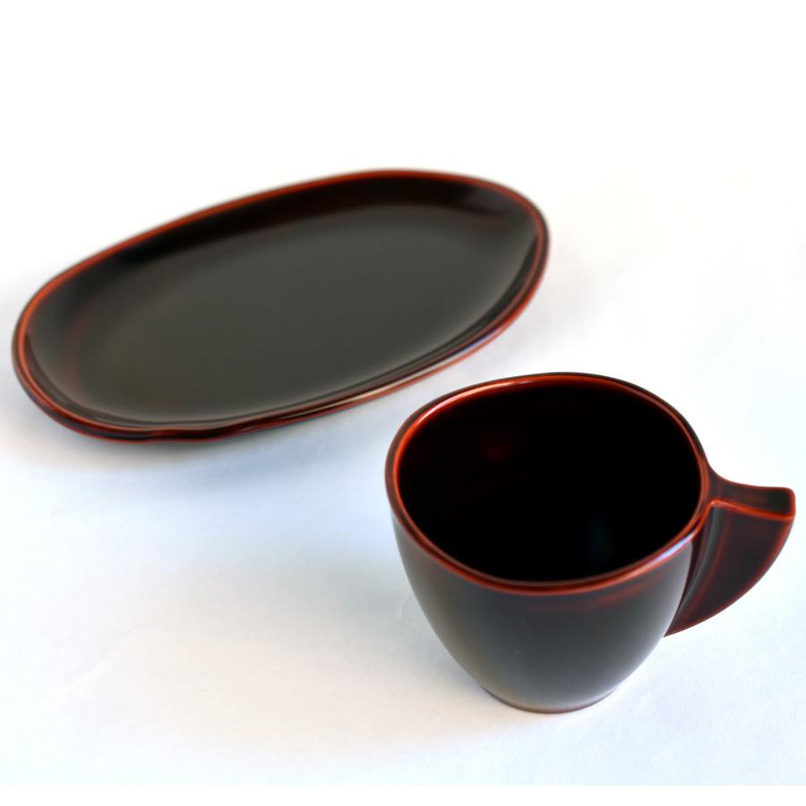 コーヒーカップ&ソーサーセット 溜 漆塗り 漆器の井助