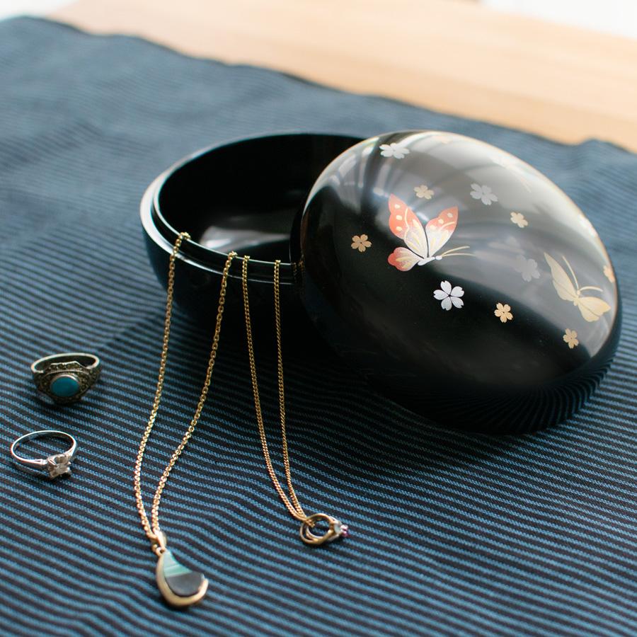 漆塗りのボンボン入れ(ボンボニエール)クローバー キャンディーボックス 漆器の井助