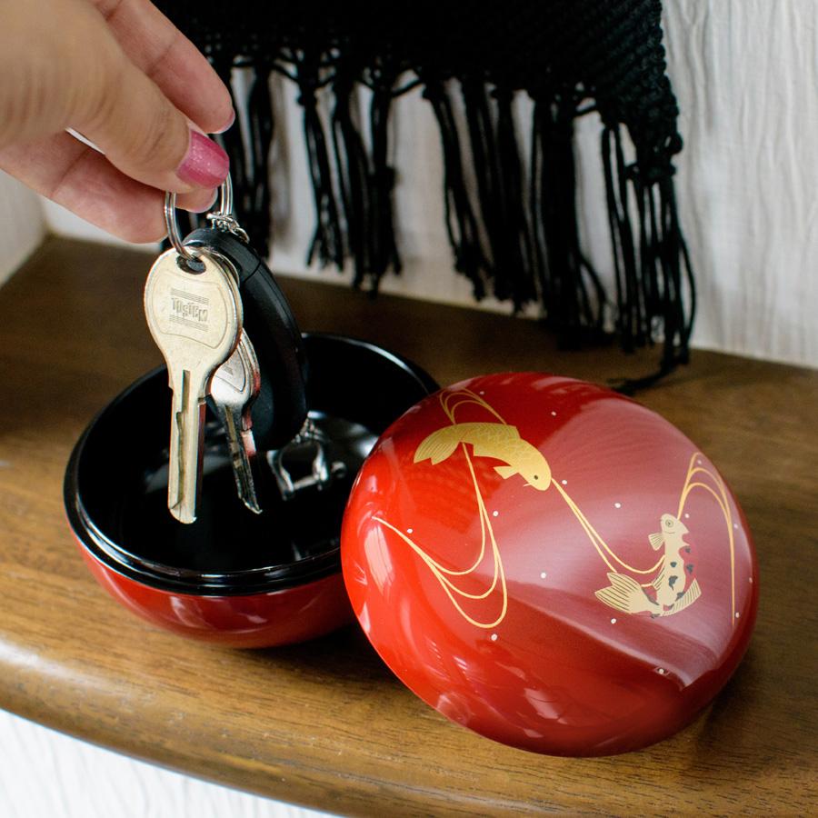 漆塗りのボンボン入れ(ボンボニエール)蝶 キャンディーボックス 漆器の井助
