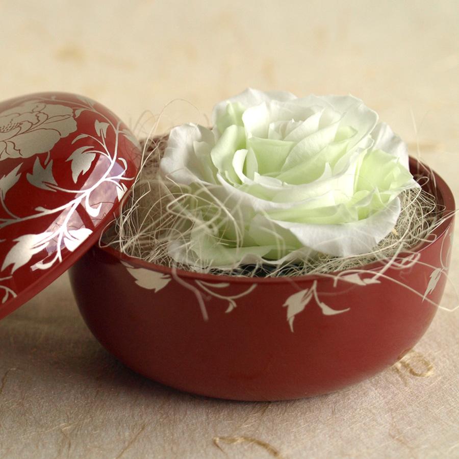 バラ ホワイト&グリーン