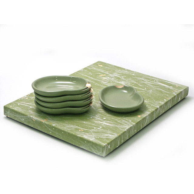 箸置き小皿 そら豆 5枚セット 漆器の井助