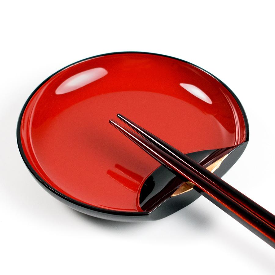 箸置き小皿 半月 5枚セット 【まとめ買い割引】 漆器の井助
