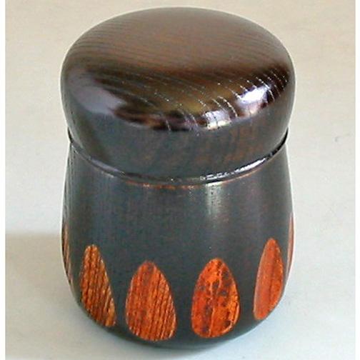 茶筒 漆切子 木製漆塗り 漆器の井助