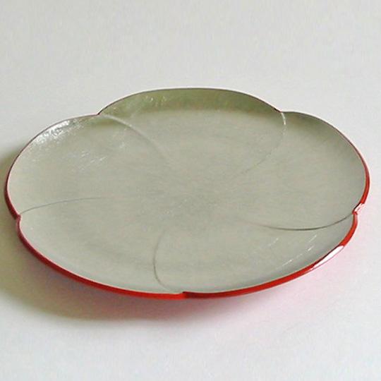 福梅皿 銀箔 漆器の井助