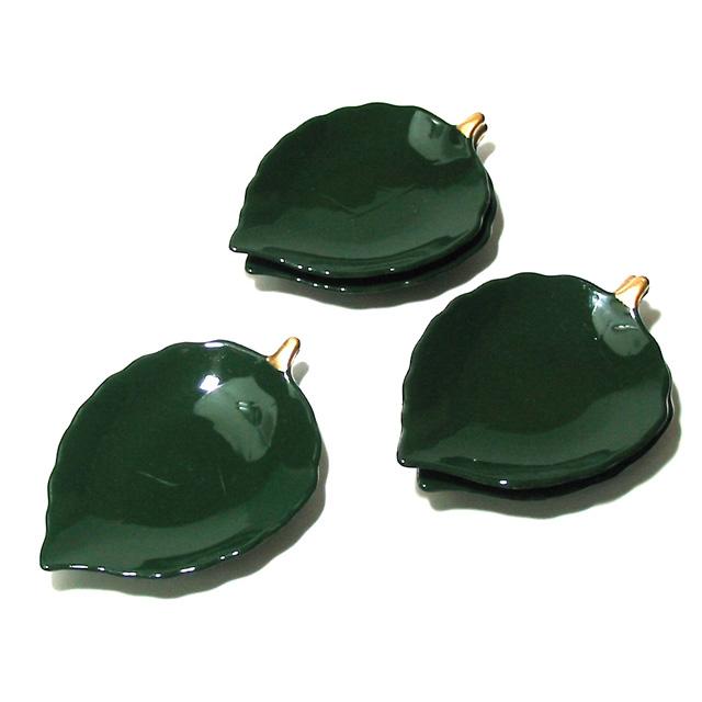 木の葉小皿 渕金 5枚セット 漆器の井助
