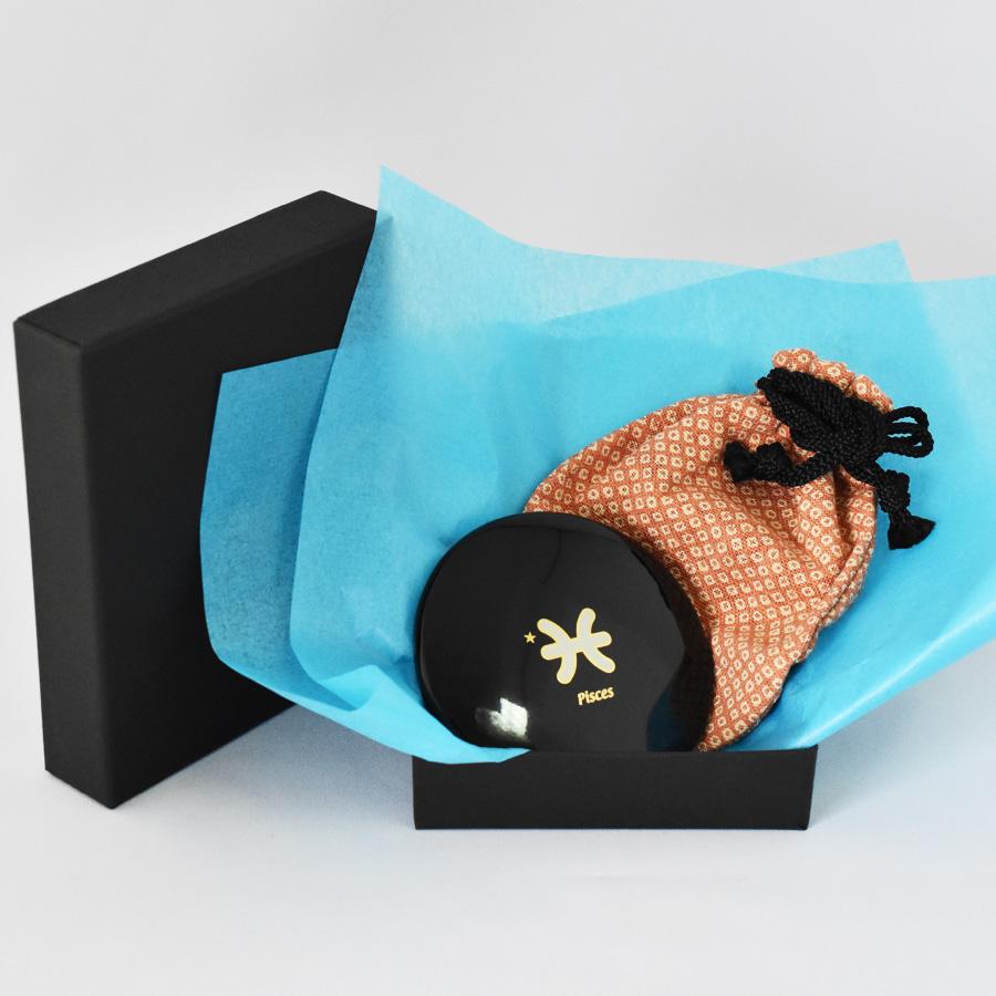 プチ手鏡 星座マーク 巾着付き コンパクトミラー