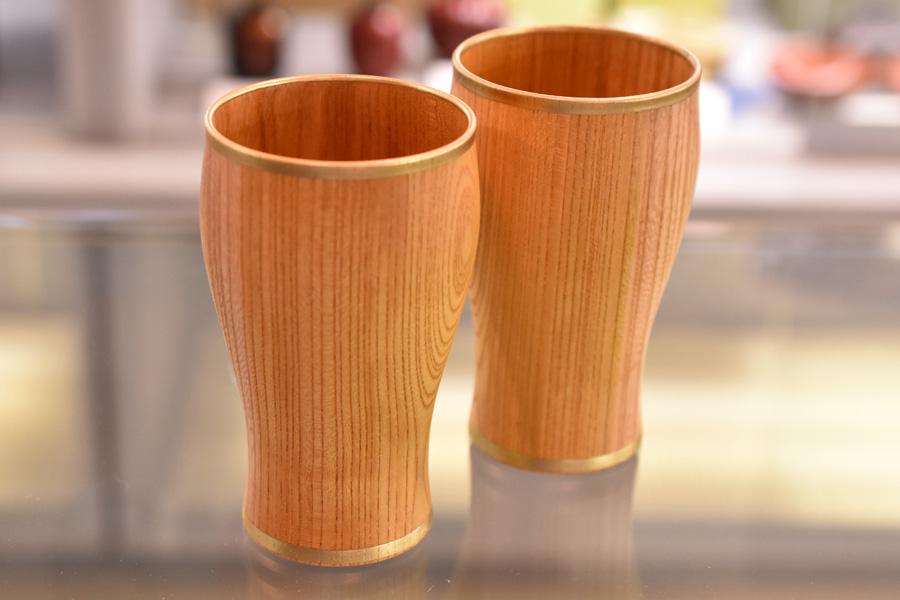 プレミアムカップ しっとり 縁金/縁銀木製 漆塗り 漆器の井助
