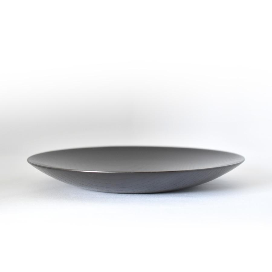 MOKU 丸皿 黒スリ漆 小