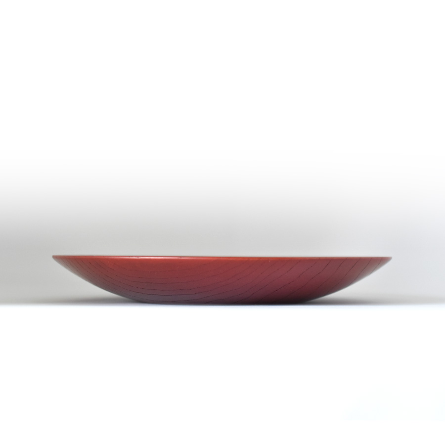 MOKU 丸皿 赤スリ漆 小