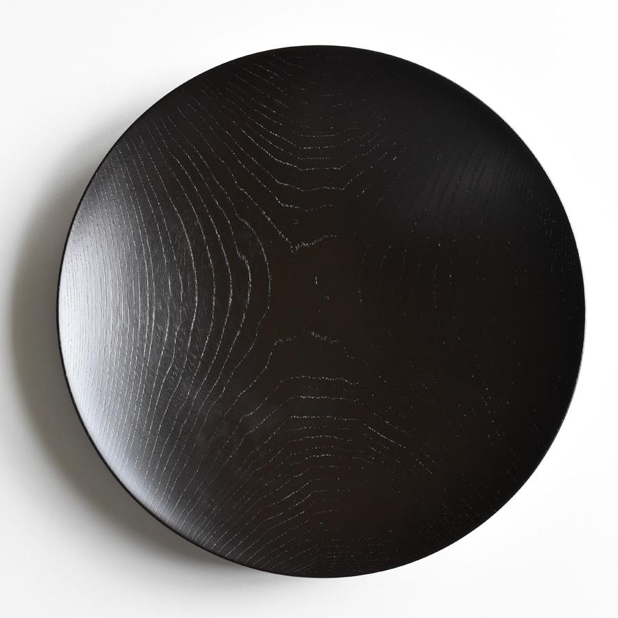 MOKU 丸皿 黒スリ漆 大