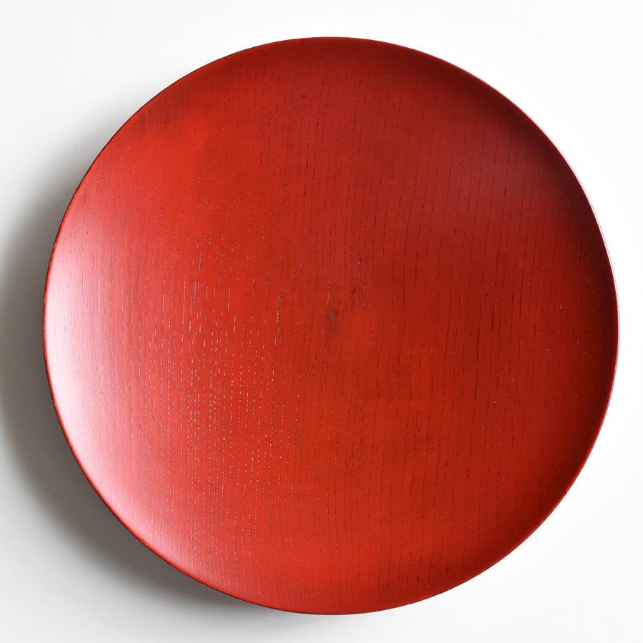 MOKU 丸皿 赤スリ漆 大