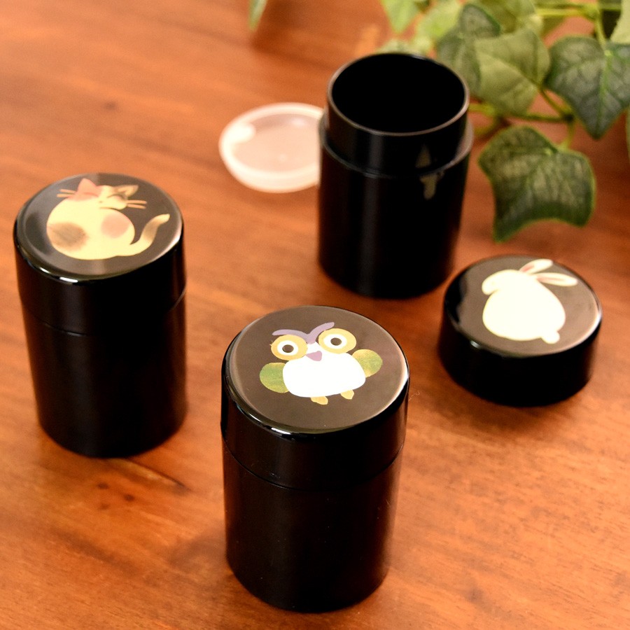 アニマル柄プチケース ピルケース 漆器の井助